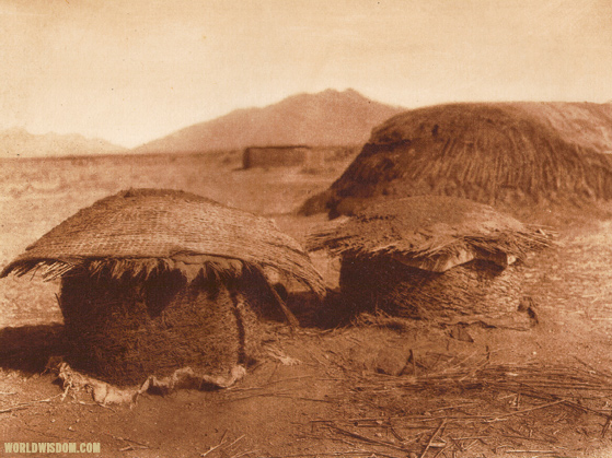 """Pima granaries"" - Pima, by Edward S. Curtis from The North American Indian Volume 2"