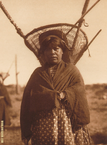 """Kiho carrier"" - Qahatika, by Edward S. Curtis from The North American Indian Volume 2"