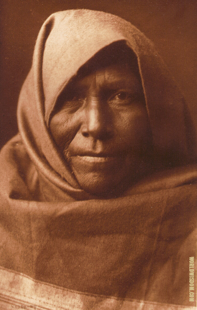 """Papago matron"" - Papago, by Edward S. Curtis from The North American Indian Volume 2"