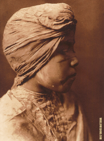 """Sholya - Mohave girl"" - Mohave, by Edward S. Curtis from The North American Indian Volume 2"