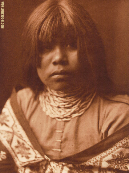 """Yuma maiden"" - Yuma, by Edward S. Curtis from The North American Indian Volume 2"