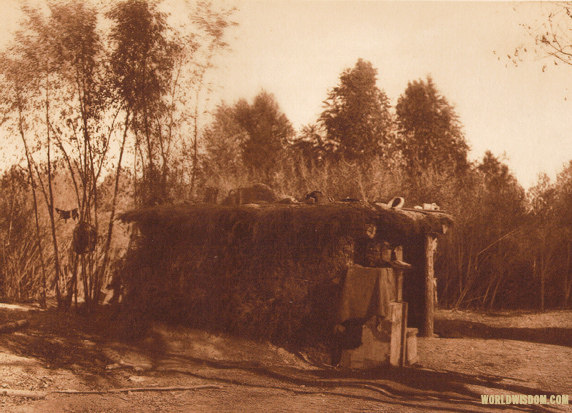 """A Yuma home"" - Yuma, by Edward S. Curtis from The North American Indian Volume 2"