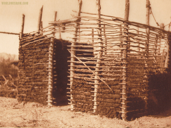 """Mohave home construction"" - Mohave, by Edward S. Curtis from The North American Indian Volume 2"