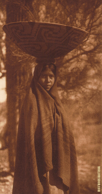 """Fruit gatherer"" - Maricopa, by Edward S. Curtis from The North American Indian Volume 2"