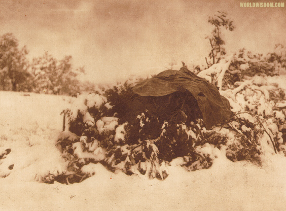 """Walapai winter camp"" - Walapai, by Edward S. Curtis from The North American Indian Volume 2"