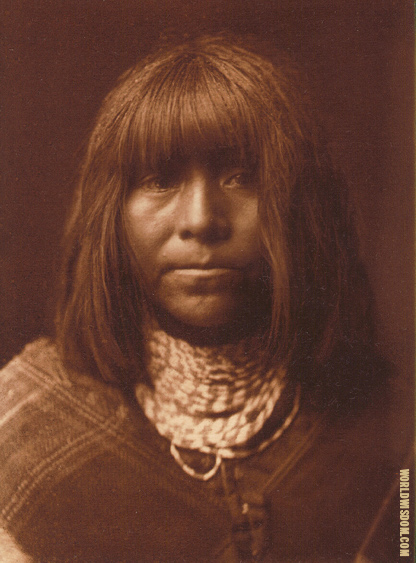 """Tathamiche"" - Walapai, by Edward S. Curtis from The North American Indian Volume 2"