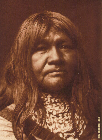 """Nerije"" - Walapai, by Edward S. Curtis from The North American Indian Volume 2"