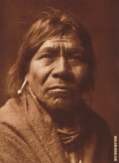 """Walathoma"" - Havasupai, by Edward S. Curtis from The North American Indian Volume 2"