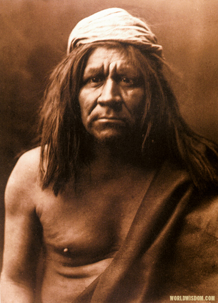 """Mohave chief"" - Mohave, by Edward S. Curtis from The North American Indian Volume 2"