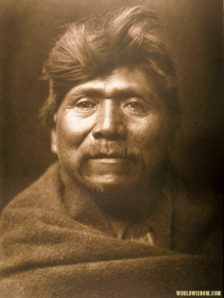 """Pachilawa - Walapai chief"" - Walapai, by Edward S. Curtis from The North American Indian Volume 2"