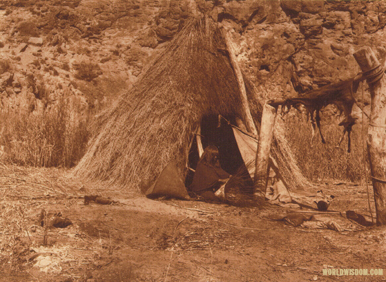 """Havasupai basket maker"" - Havasupai, by Edward S. Curtis from The North American Indian Volume 2"