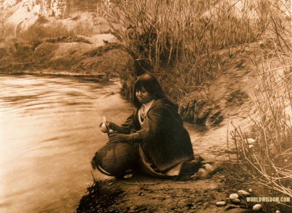 """Getting water"" - Havasupai, by Edward S. Curtis from The North American Indian Volume 2"