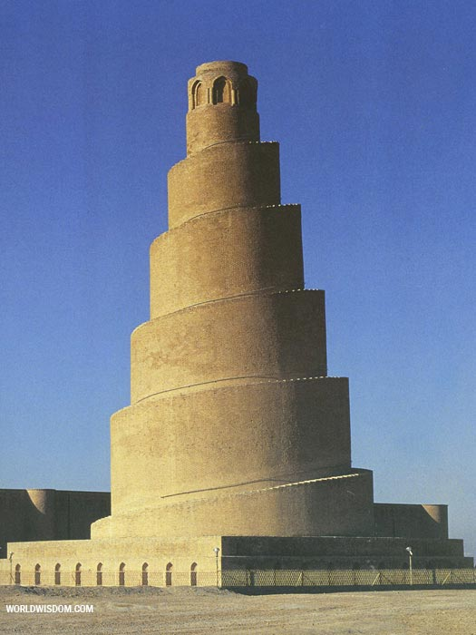 Photo of the Malwiya minaret of the Great Mosque of Samarra, Iraq