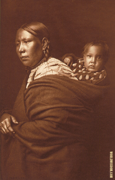 Mother and child- Teton Souix, by Edward S. Curtis from The North American Indian Volume 3