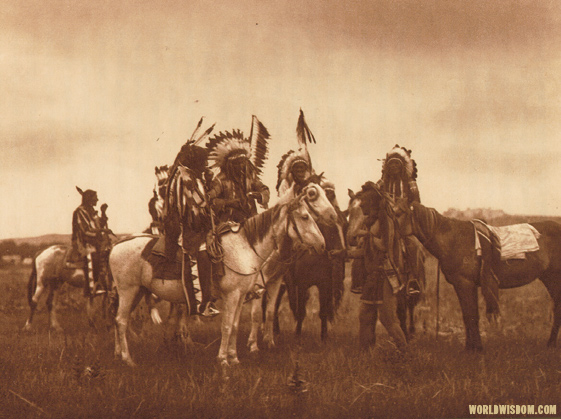"""The parley - Teton Sioux"", by Edward S. Curtis from The North American Indian Volume 3"
