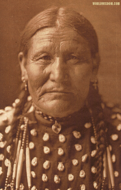 """Good Day Woman - Ogalala - Teton Sioux"", by Edward S. Curtis from The North American Indian Volume 3"