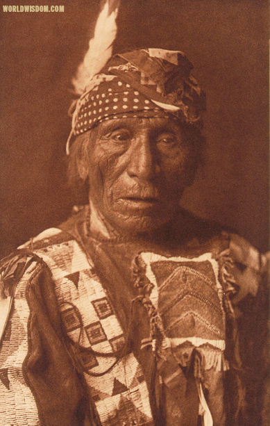 """Good Voice Hawk -Yanktonai"", by Edward S. Curtis from The North American Indian Volume 3"