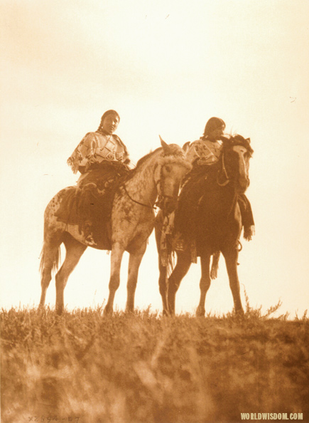 """Ogalala girls - Teton Sioux"", by Edward S. Curtis from The North American Indian Volume 3"