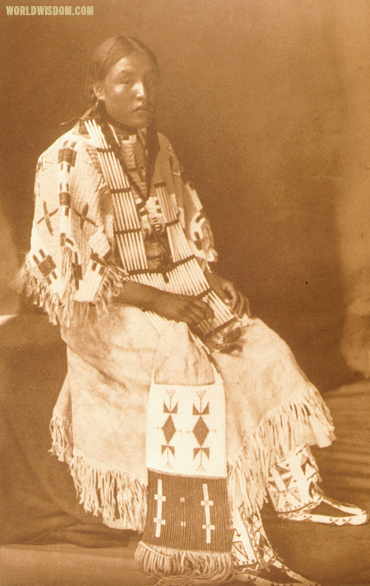"""Sioux girl - Teton Sioux"", by Edward S. Curtis from The North American Indian Volume 3"