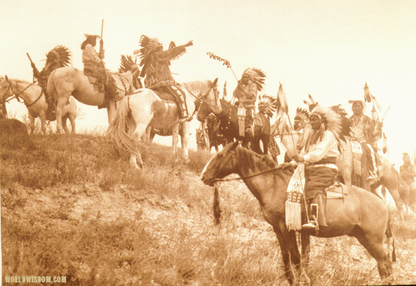 """Planning a raid - Teton Sioux"", by Edward S. Curtis from The North American Indian Volume 3"