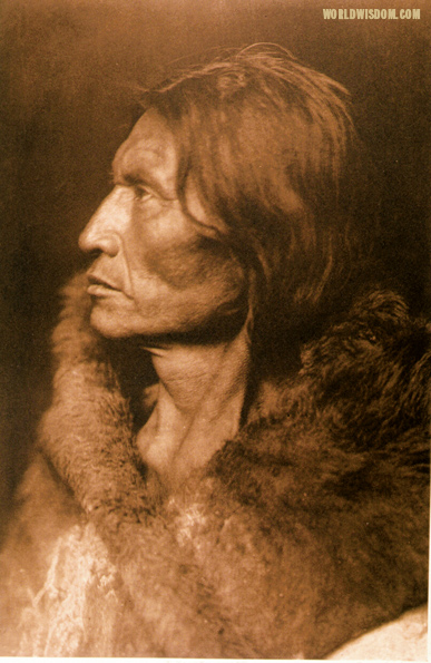 """Mosquito Hawk - Assiniboin"", by Edward S. Curtis from The North American Indian Volume 3"