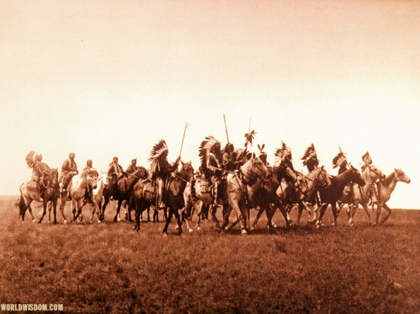 """Brule war-party - Teton Sioux"", by Edward S. Curtis from The North American Indian Volume 3"