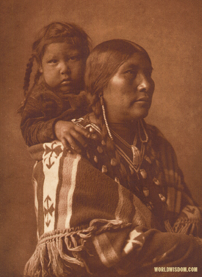 """Apsaroke mother"" - Apsaroke, by Edward S. Curtis from The North American Indian Volume 4"
