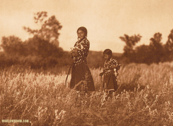"""Playmates"" - Apsaroke, by Edward S. Curtis from The North American Indian Volume 4"