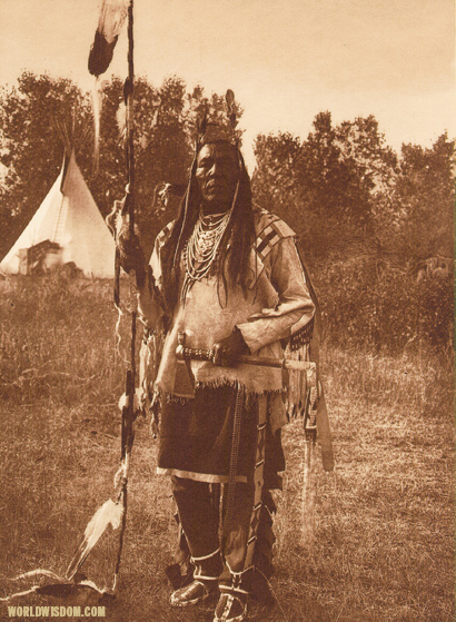 """Bird On The Ground"" - Apsaroke, by Edward S. Curtis from The North American Indian Volume 4"