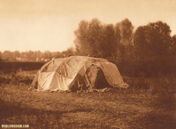 """Sweat-lodge"" - Apsaroke, by Edward S. Curtis from The North American Indian Volume 4"