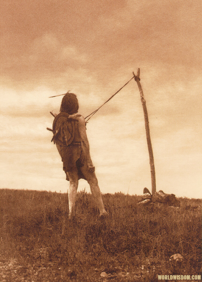 """For strength and visions"" - Apsaroke, by Edward S. Curtis from The North American Indian Volume 4"