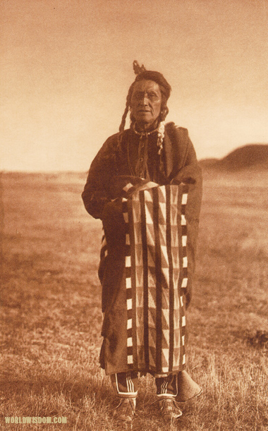 """Hidatsa man"" - Hidatsa, by Edward S. Curtis from The North American Indian Volume 4"