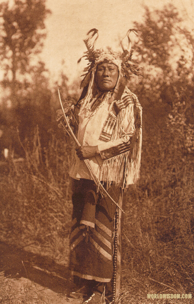 """Long-time Dog"" - Hidatsa, by Edward S. Curtis from The North American Indian Volume 4"