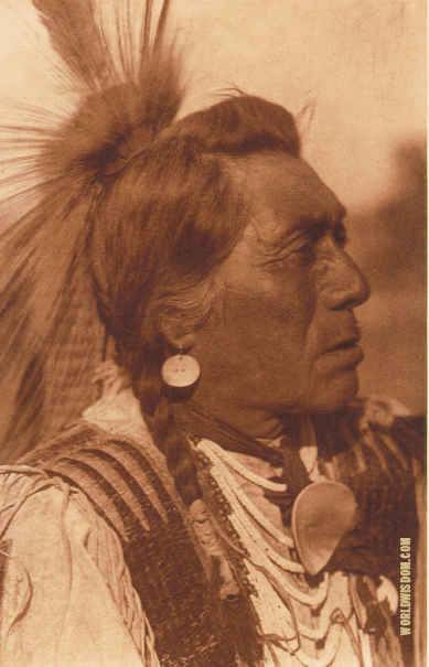 """Rabbit-Head"" - Hidatsa, by Edward S. Curtis from The North American Indian Volume 4"