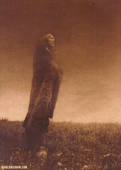 """Crying to the spirits"" - Hidatsa, by Edward S. Curtis from The North American Indian Volume 4"