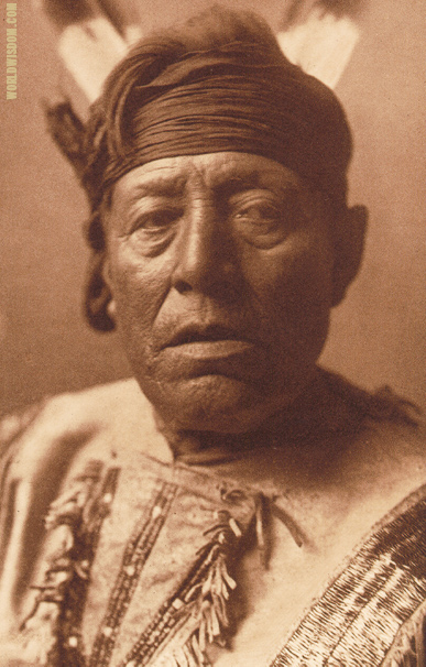 """Good Bear"" - Hidatsa, by Edward S. Curtis from The North American Indian Volume 4"