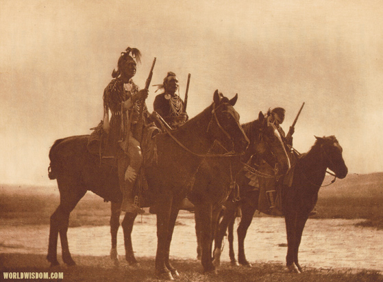 """Custer's Crow Scouts"" - Apsaroke, by Edward S. Curtis from The North American Indian Volume 3"