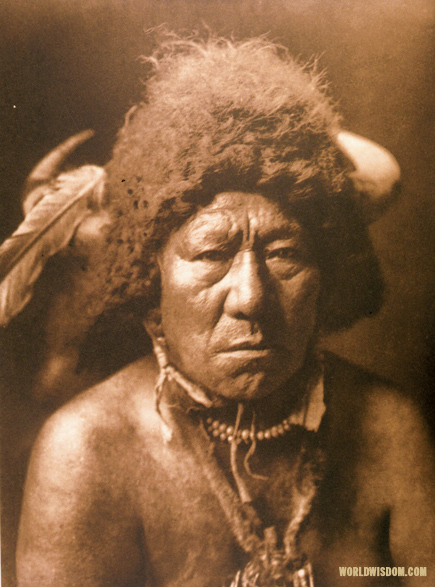 """Bull Neck"" - Arikara, by Edward S. Curtis from The North American Indian Volume 5"