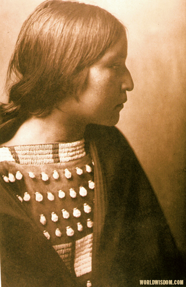 """Arikara Girl"" - Arikara, by Edward S. Curtis from The North American Indian Volume 5"