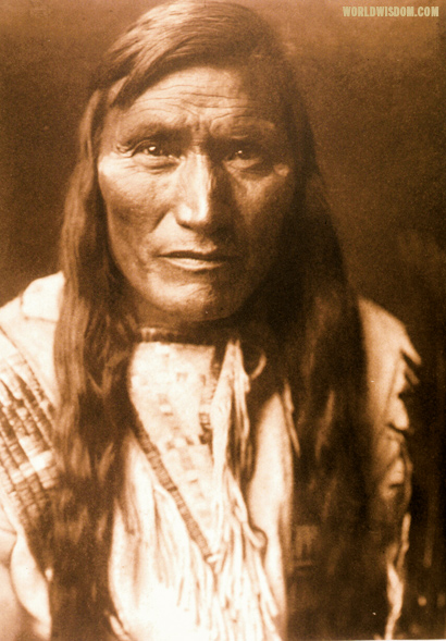 """Head-dress"" - Atsina, by Edward S. Curtis from The North American Indian Volume 5"