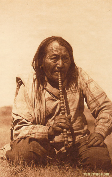 """A Smoke - Arapaho"" from Volume 6 of The North American Indian by Edward S. Curtis"