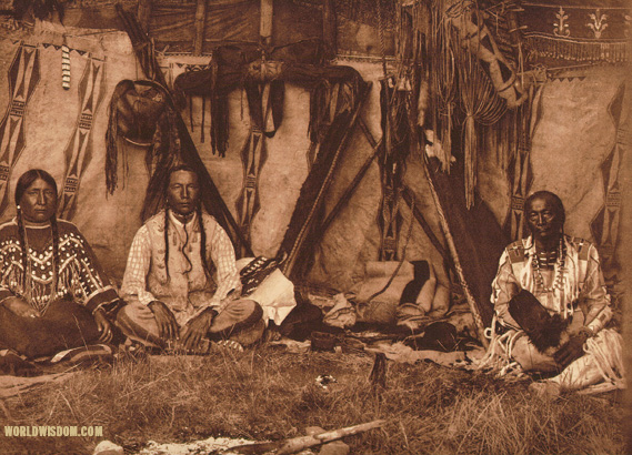 """Lodge interior"" - Piegan, by Edward S. Curtis from The North American Indian Volume 6"