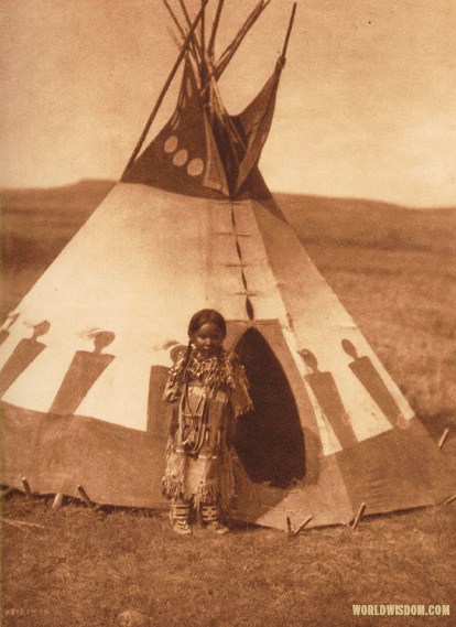 """A child's lodge"" - Piegan, by Edward S. Curtis from The North American Indian Volume 6"