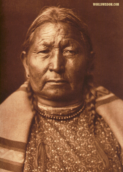 """Cheyenne matron"" - Cheyenne, by Edward S. Curtis from The North American Indian Volume 6"