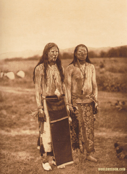 """Sun dance pledgers"" - Cheyenne, by Edward S. Curtis from The North American Indian Volume 6"