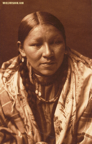 """Cheyenne young woman"" - Cheyenne, by Edward S. Curtis from The North American Indian Volume 6"