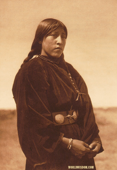 """Arapaho maiden"" - Arapaho, by Edward S. Curtis from The North American Indian Volume 6"