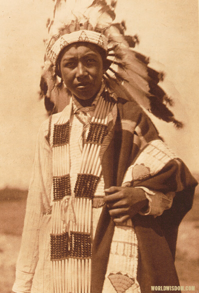 """Arapaho youth"" - Arapaho, by Edward S. Curtis from The North American Indian Volume 6"