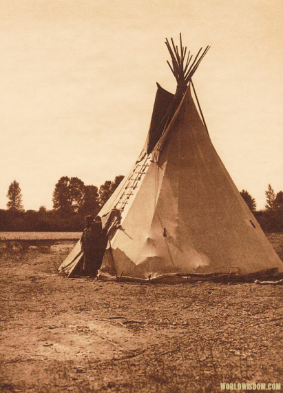 """Arapaho camp"" - Arapaho, by Edward S. Curtis from The North American Indian Volume 6"