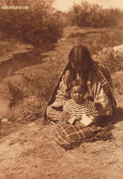"""Mother and child"" - Arapaho, by Edward S. Curtis from The North American Indian Volume 6"